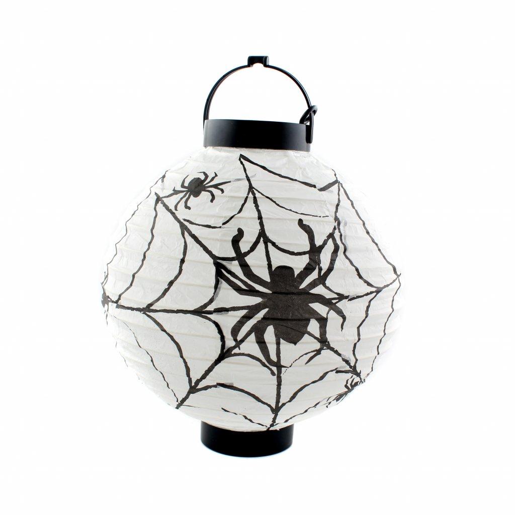Svítící lampion s pavoukem