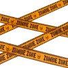 zombie výstražná páska dekorace halloween