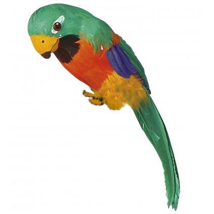 Umělý papoušek zelený