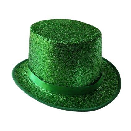 Zelený klobouk lesklý