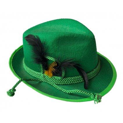 myslivecký klobouk zelený karneval levný