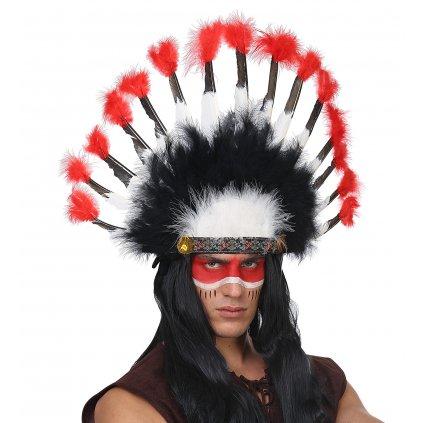 Péřová čelenka Indián náčelník