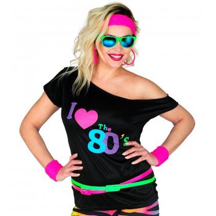 tričko miluju 80 léta