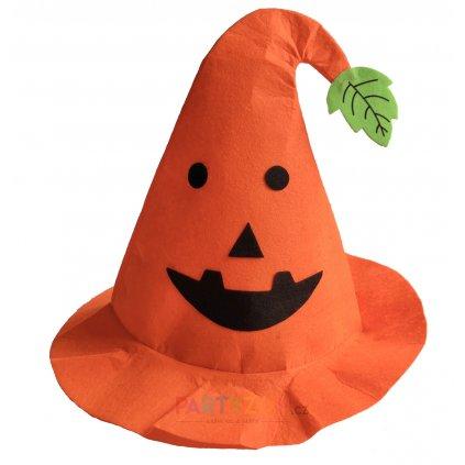 halloween čepice dýně