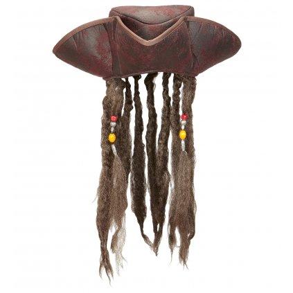 látkový klobouk pirát