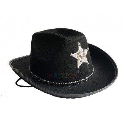 Dětský kovbojský klobouk černý