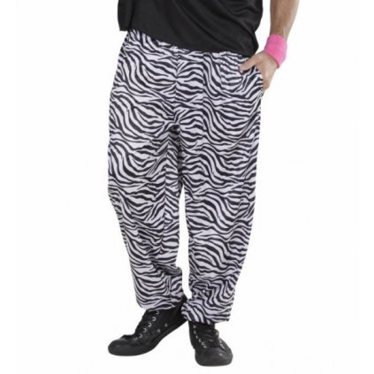 Pánské retro tepláky zebra