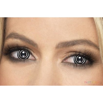 levné Barevné kontaktní čočky spirála