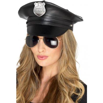 Koženková čepice Policista unisex