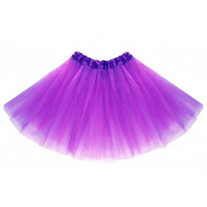 tutu tylová sukně fialová na karneval a párty