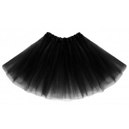 tutu tylová sukně černá na karneval a párty