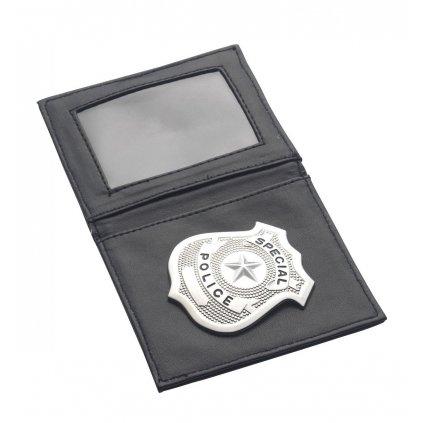 policejní odznak s pouzdrem