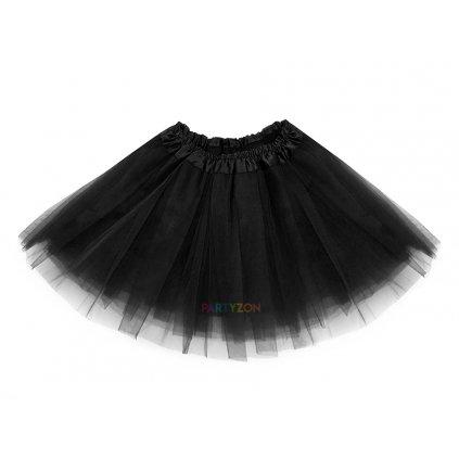 tylová tutu sukýnka pro děti černá