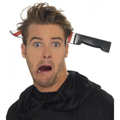 halloween čelenka nůž skrz hlavu
