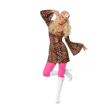 Kostým hippies šaty vzor peace