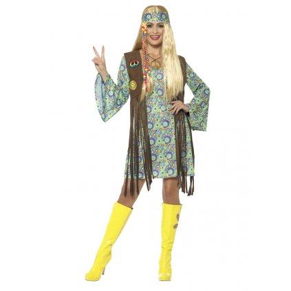 Dámský kostým hippies zelený
