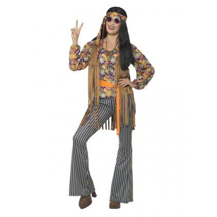 Dámský kostým hippies triko a kalhoty