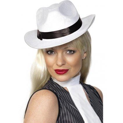 Mafiánský klobouk bílý