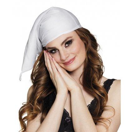 Čepice na spaní bílá