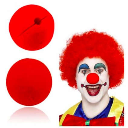 Červený klaunský nos molitanový