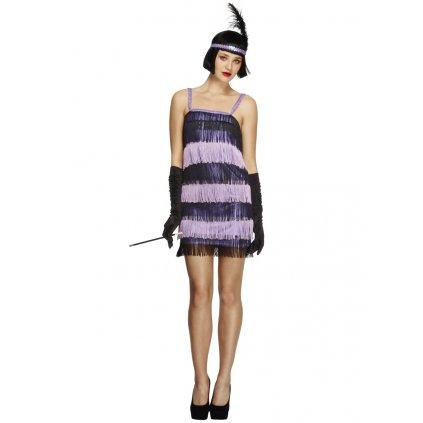 Charleston kostým 20. léta fialové šaty