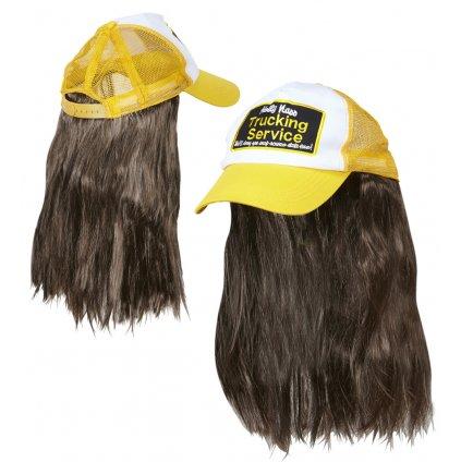 žlutá kšiltovka s vlasy Kamioňák
