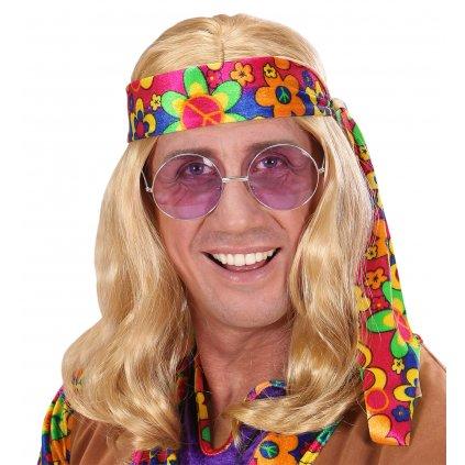 Blond paruka Hippie týpek