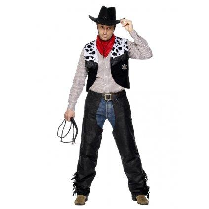 Pánský kostým kovboj levně