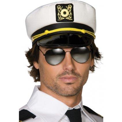 Námořnická čepice kapitán lodi