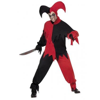 Pánský kostým Strašidelný šašek na halloween