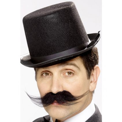 Černý knír detektiv Sherlock