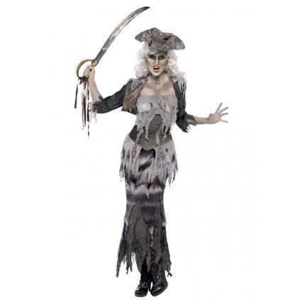 Dámský kostým Mrtvá pirátka duch
