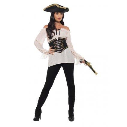 Dámská pirátská košile bílá