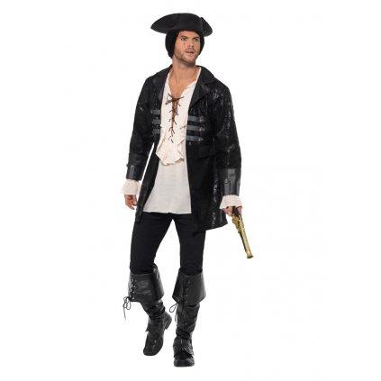 Černý pánský kabát pro piráta