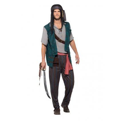 Pánský kostým Nespoutaný pirát kvalitní
