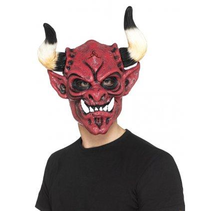 Profi maska čerta z měkké pěny partyzon