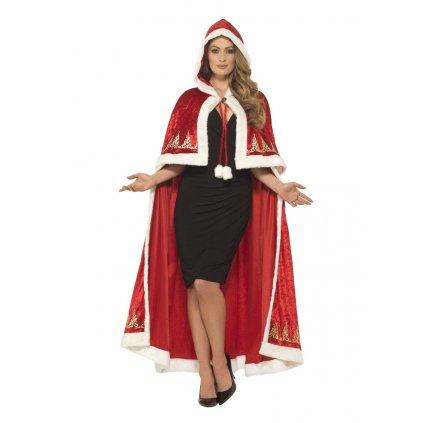 Dlouhý plášť Santa Claus deluxe