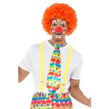 Barevná kravata pro klauna partyzon
