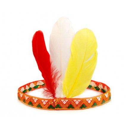 indiánská čelenka s peřím levně
