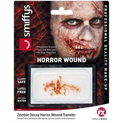Zranění odhalená čelist FX halloween