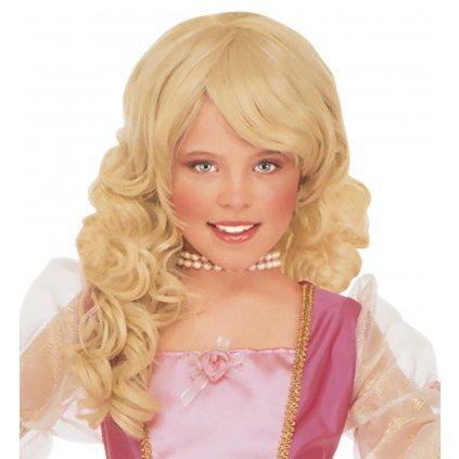 Dětská paruka blond Princezna