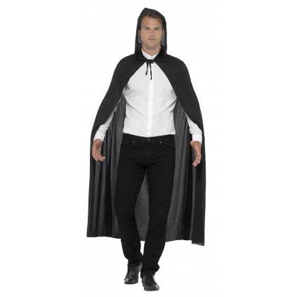 Dlouhý černý plášť jednoduchý