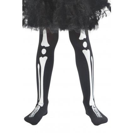 Dětské punčocháče kostra halloween