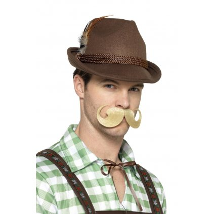 Bavorský klobouk hnědý deluxe