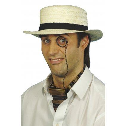 Slaměný klobouk 20. léta Boater