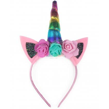 čelenka jednorožec unicorn růžová