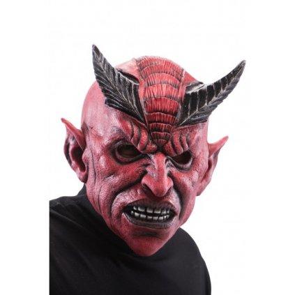 Čertovská maska Ďábel s rohy