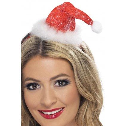 Mini čepička Santa