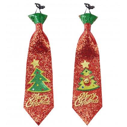 Kravata vánoční stromeček