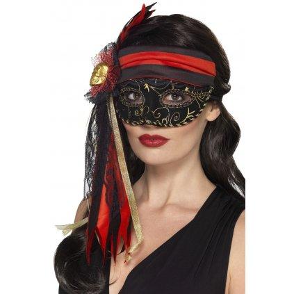 Elegantní benátská maska Pirate